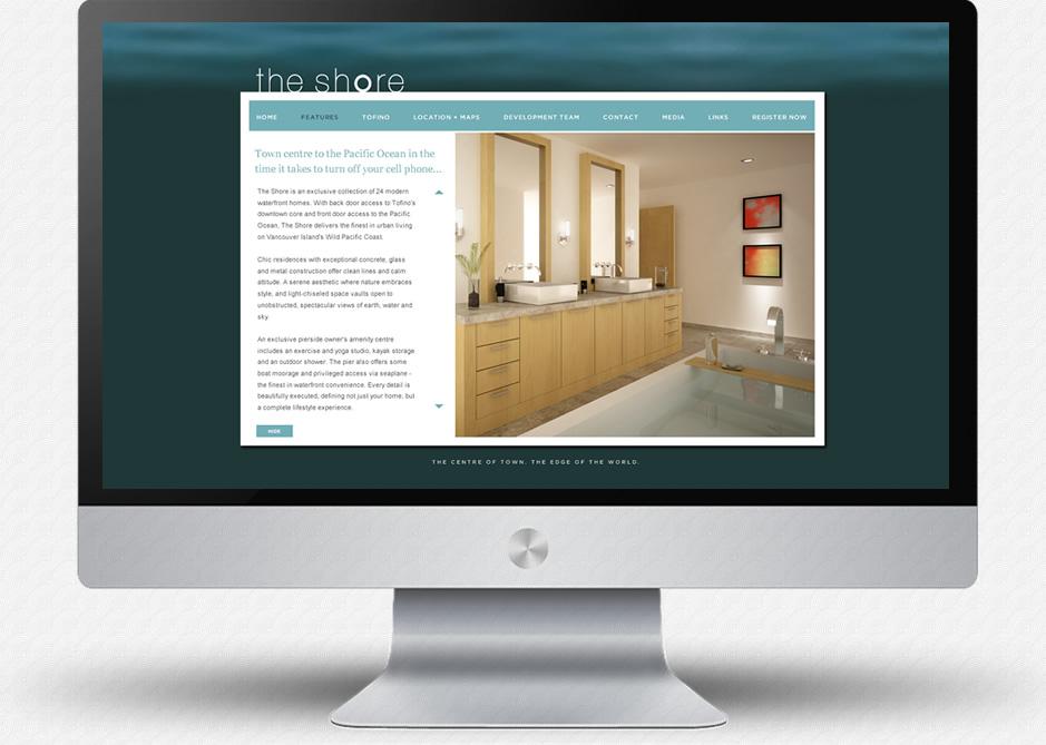 The Shore Website: Features