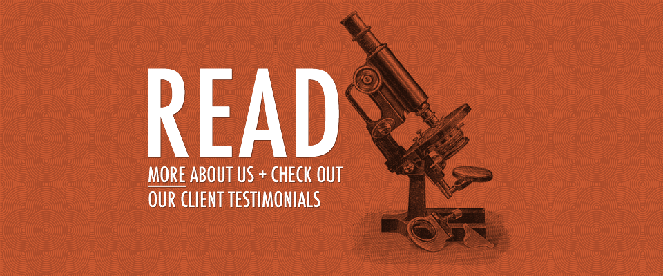Read More about us + check out our testimonials